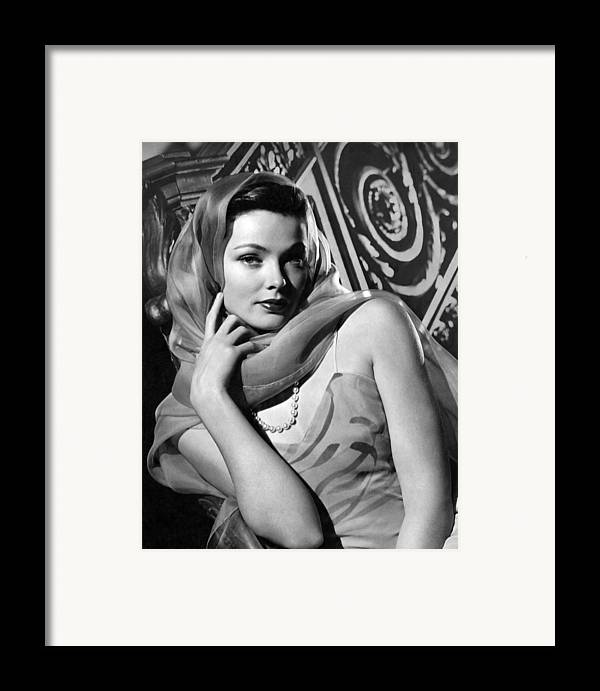 11x14lg Framed Print featuring the photograph The Razors Edge, Gene Tierney, 1946 by Everett
