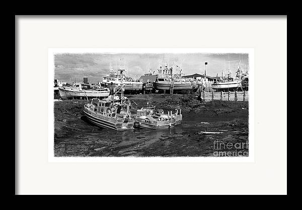 Alaska Framed Print featuring the photograph The Real Alaska - Caught At Low Tide by Pete Hellmann