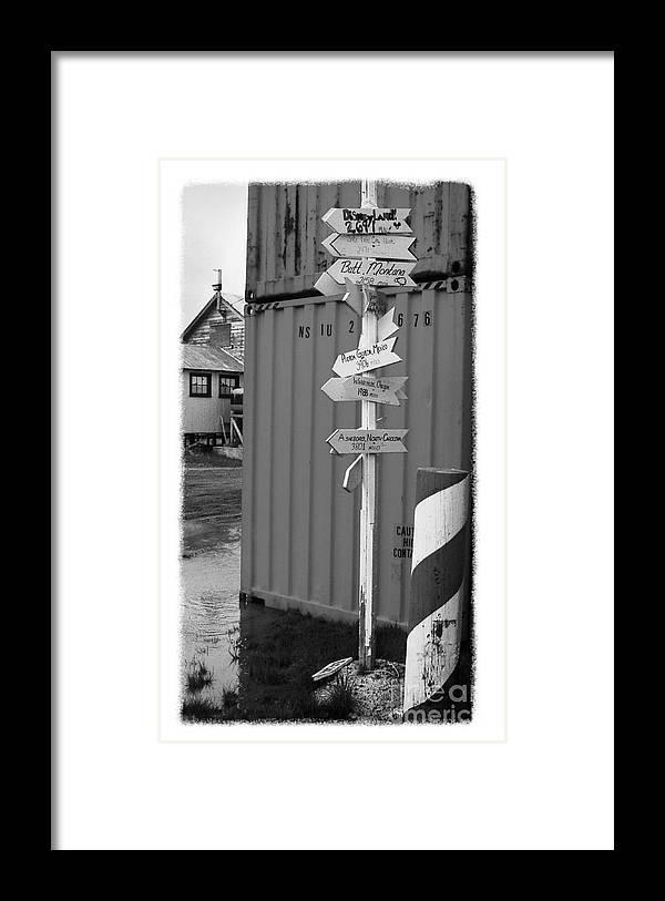 Alaska Framed Print featuring the photograph The Real Alaska - Crossroads by Pete Hellmann