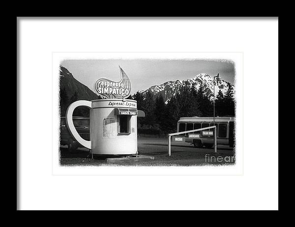 Alaska Framed Print featuring the photograph The Real Alaska - Espresso by Pete Hellmann