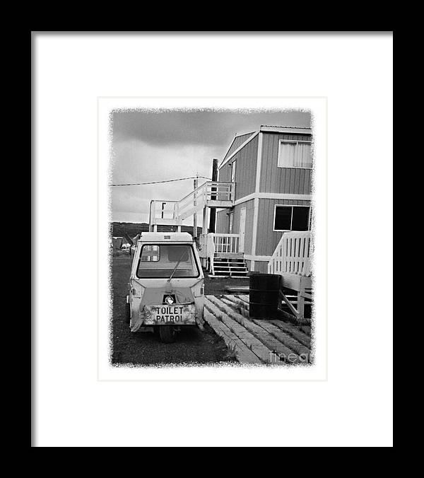 Alaska Framed Print featuring the photograph The Real Alaska - Toilet Patrol by Pete Hellmann