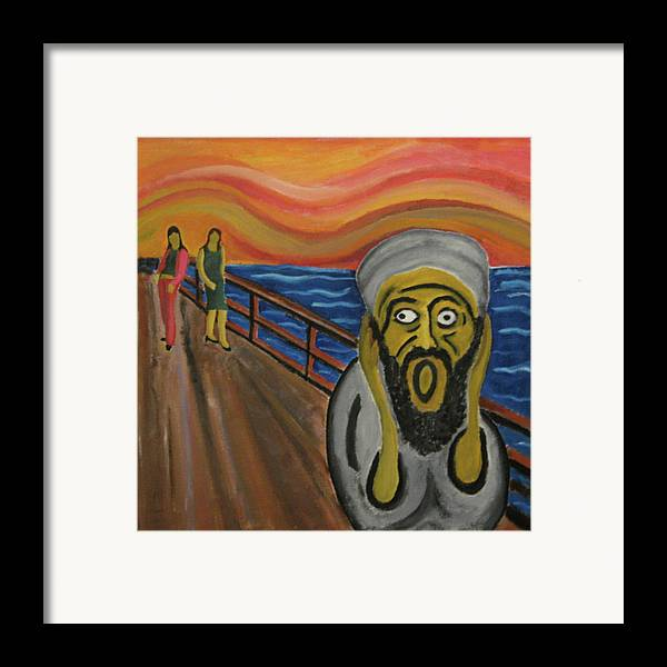 Terror Framed Print featuring the painting The Real Terror by Darren Stein