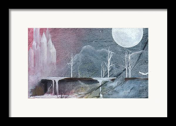 Castle Framed Print featuring the painting The Realm Of Queen Astrid by Jackie Mueller-Jones