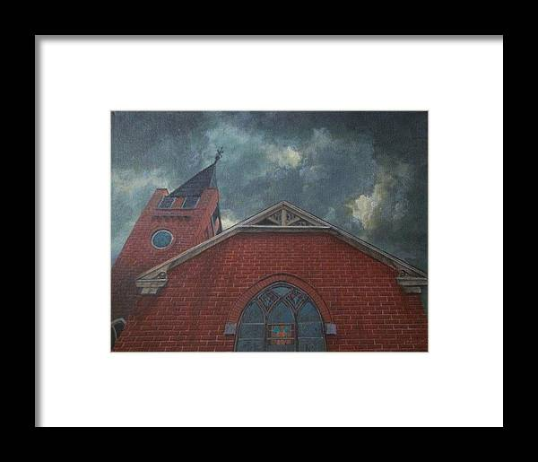 Framed Print featuring the painting The Reclemation by James Moore