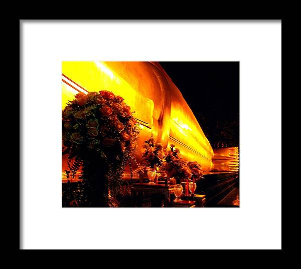 Bangkok Framed Print featuring the photograph The Reclining Buddha by Diane Height