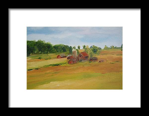 Barn Framed Print featuring the painting The Red Barn by Lisa Konkol