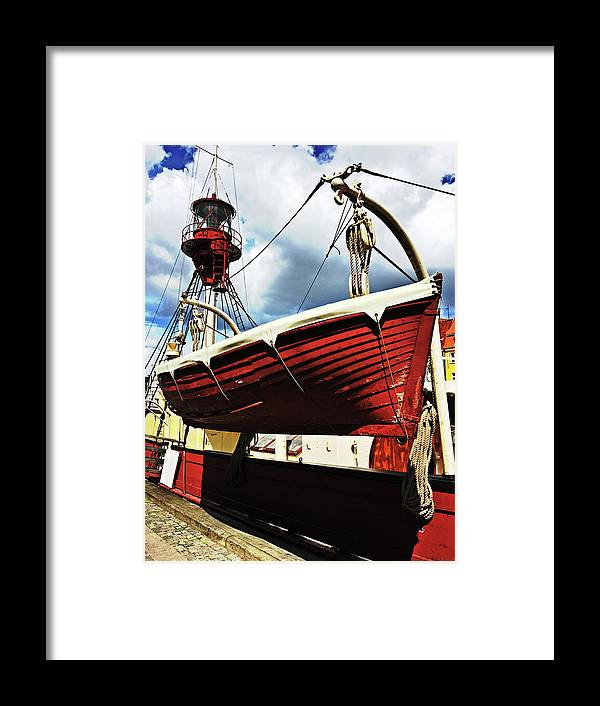The Framed Print featuring the photograph The Red Boat by HazelPhoto