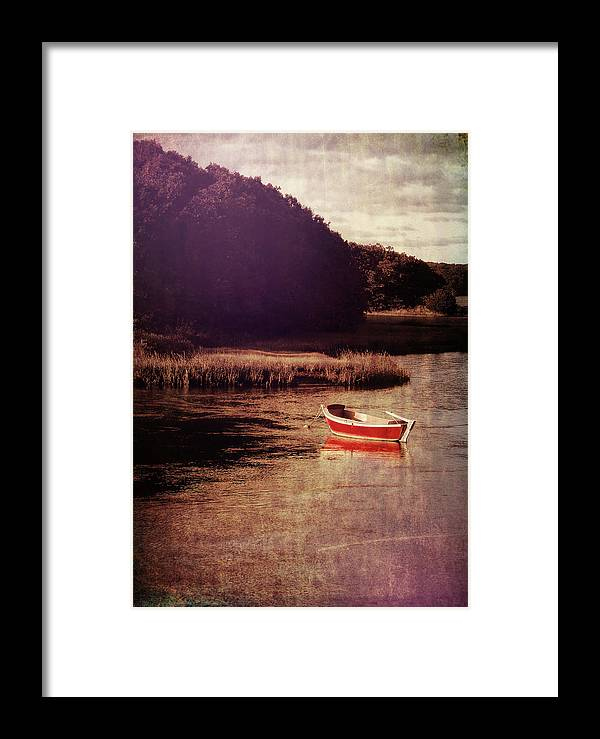 Boat Framed Print featuring the photograph The Red Boat by JAMART Photography