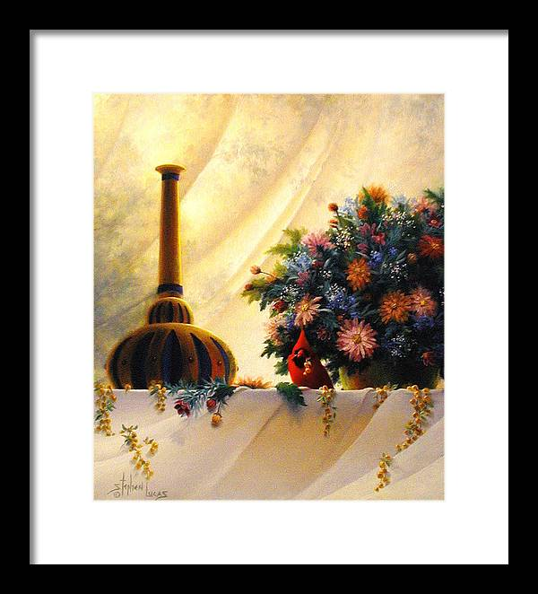 Impressionism Framed Print featuring the painting The Red Genie by Stephen Lucas