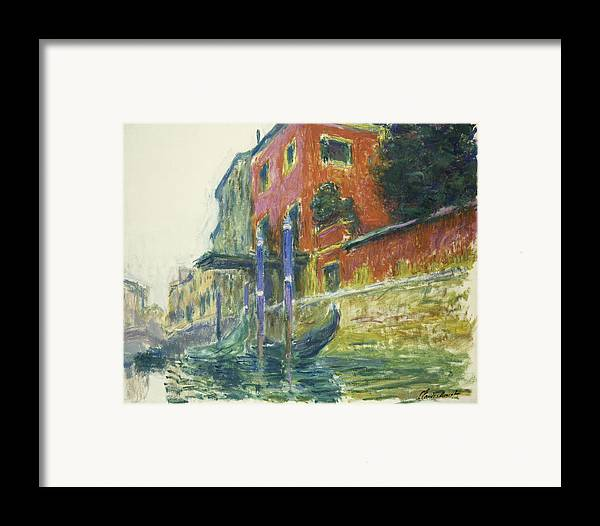 Claude Monet Framed Print featuring the painting The Red House by Claude Monet