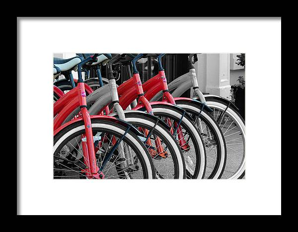 Black And White Framed Print featuring the photograph The Red One by Don Prioleau