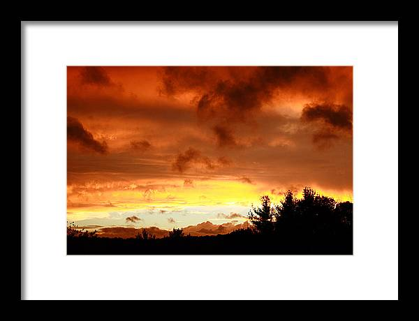 Sunset Framed Print featuring the photograph The Red Planet by Carol Hicks