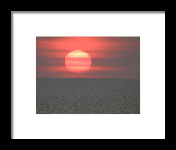 Sun Set Over Longboat Key Framed Print featuring the photograph The Red Star by Peter Shaw