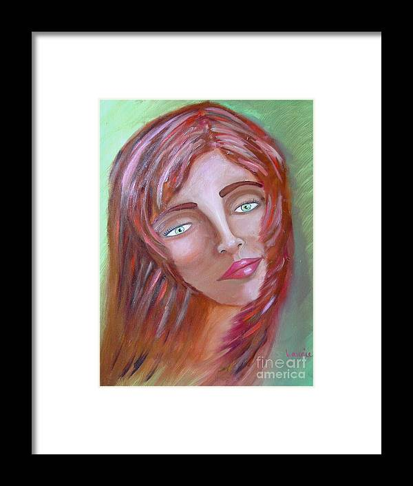 Redheads Framed Print featuring the painting The Redhead by Laurie Morgan
