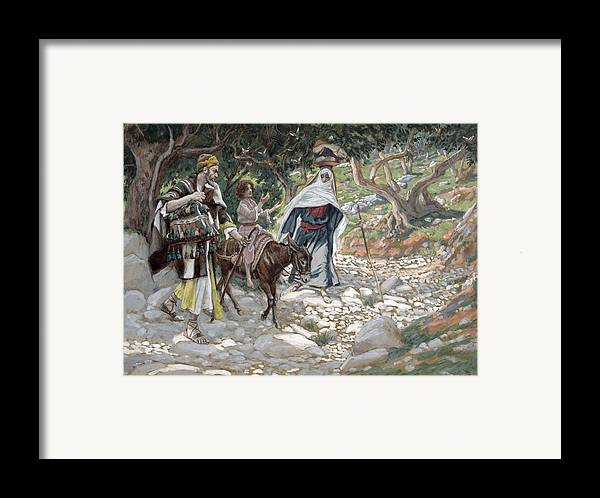 Ass Framed Print featuring the painting The Return From Egypt by Tissot
