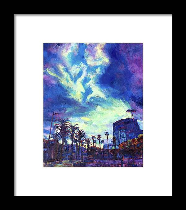 Palms Framed Print featuring the painting The Reveal by Bonnie Lambert