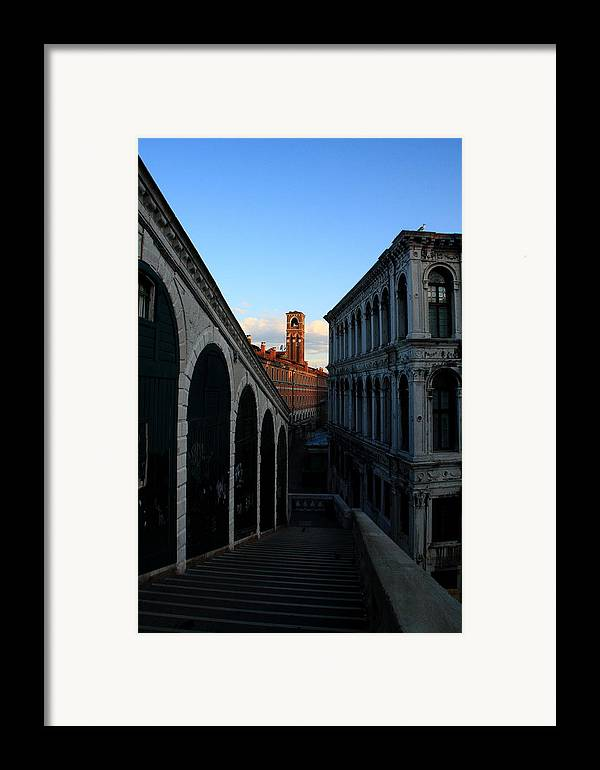 Venice Framed Print featuring the photograph The Rialto At Sunrise by Michael Henderson