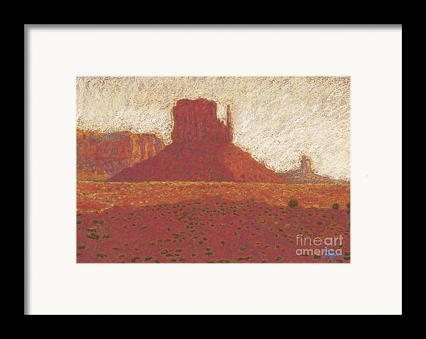Deserts Artwork Framed Print featuring the drawing The Right Mitten by Suzie Majikol Maier