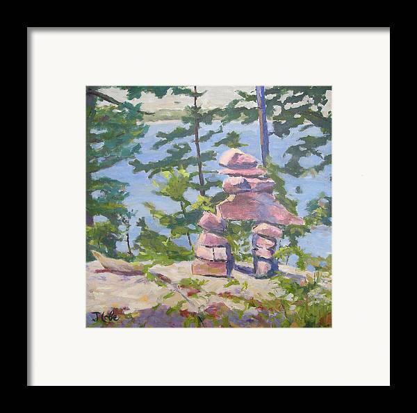 Cairn Framed Print featuring the painting The Right Path by Jude Lobe