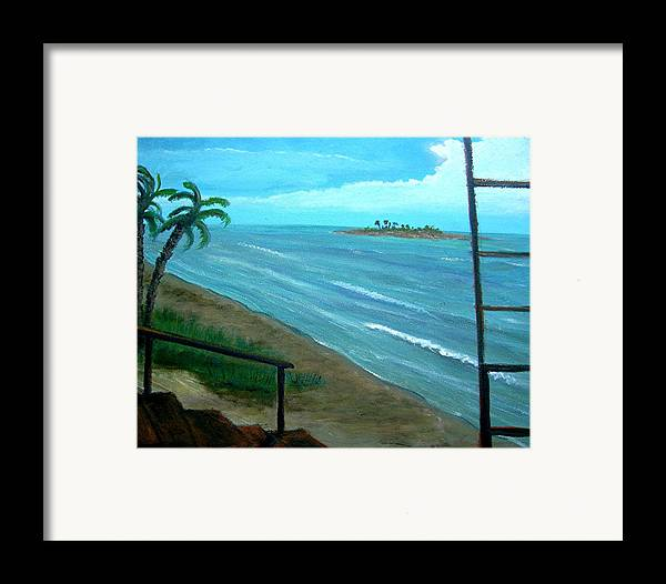 Water Framed Print featuring the painting The Rip-off by Richard Hubal