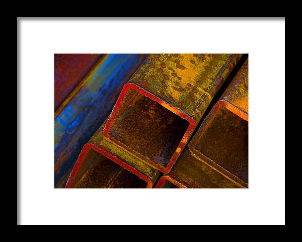 Abstract Framed Print featuring the photograph The River by Skip Hunt