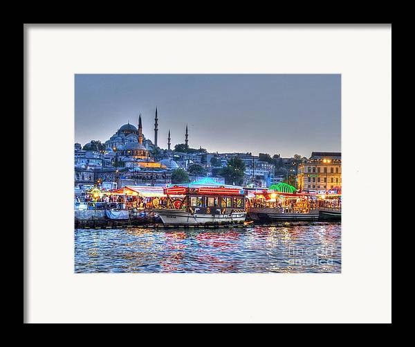 Istanbul Framed Print featuring the photograph The Riverboats Of Istanbul by Michael Garyet