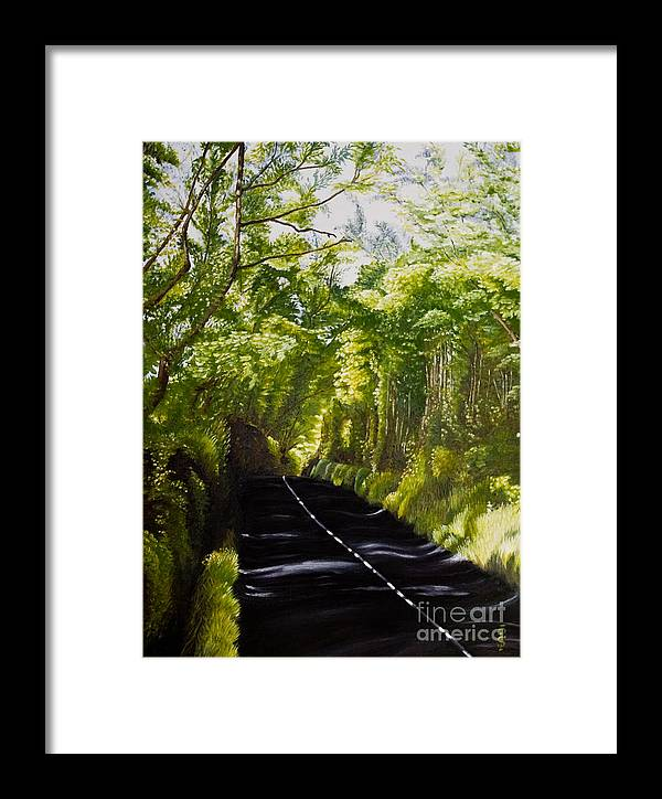 Landscape Framed Print featuring the painting The Road Through Glenastar by Pauline Sharp