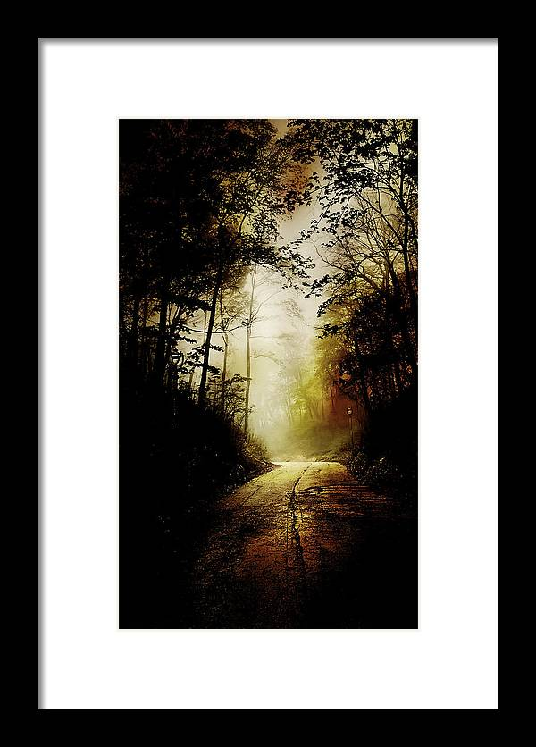 Abandoned Framed Print featuring the photograph The Road To Hell Take 2 by Scott Norris