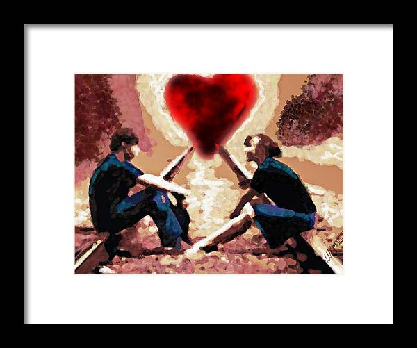 Challenge Framed Print featuring the digital art The Road To Love #0007 by Urszula Zogman