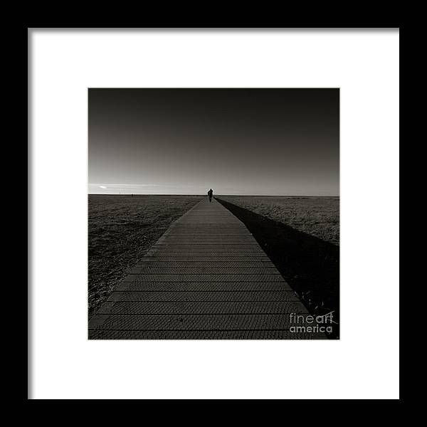 Bridge Framed Print featuring the photograph The Road To Nowhere by Angel Ciesniarska