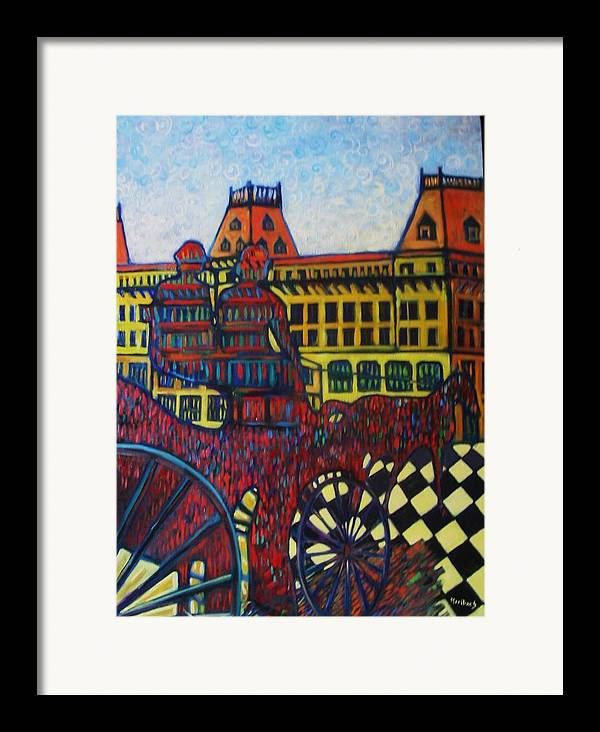 Framed Print featuring the painting The Road To Peace by Marilene Sawaf