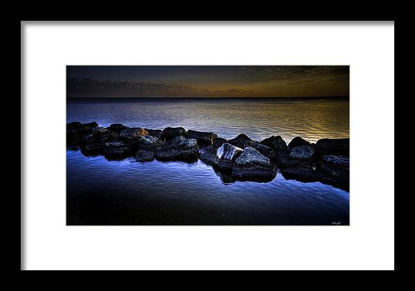 Hdr Framed Print featuring the photograph The Rocks by E R Smith