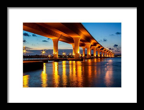 Landscape Framed Print featuring the photograph The Roosevelt Bridge by Linda Nicol