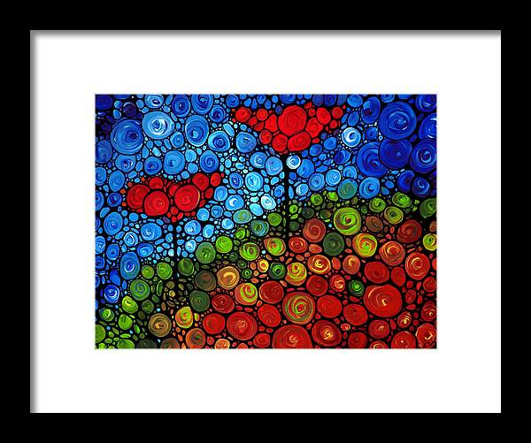 Floral Framed Print featuring the painting The Roots Of Love Run Deep by Sharon Cummings