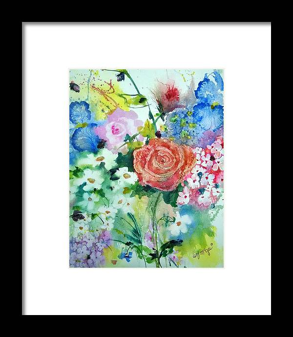 Watercolors Framed Print featuring the painting The Rose by Lizbeth McGee