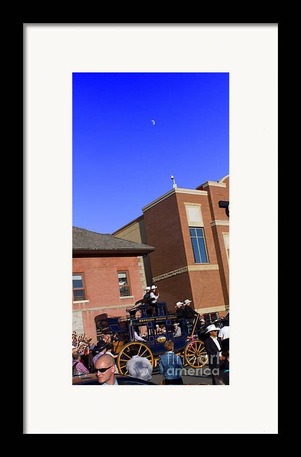 Duke And Duchess Of Cambridge Framed Print featuring the photograph The Royal Couple's Moon by Donna Munro