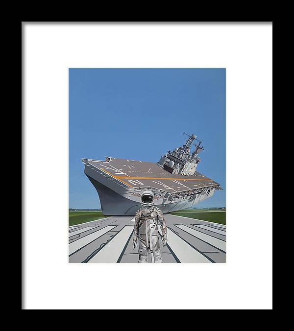 Astronaut Framed Print featuring the painting The Runway by Scott Listfield