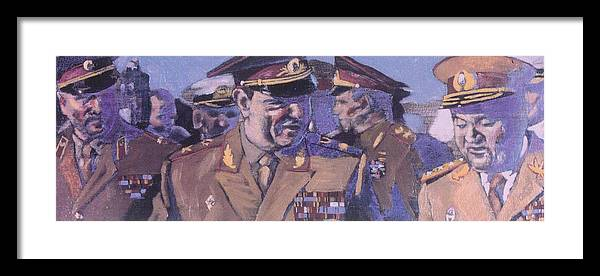 Russian Framed Print featuring the painting The Russian Generals by Michael Facey