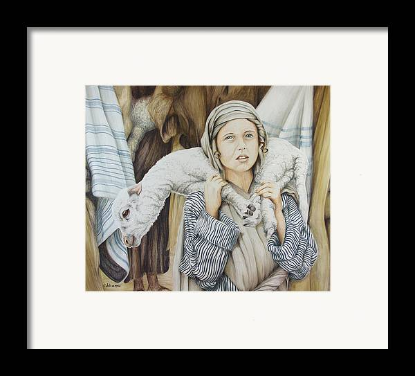 Christian Art Framed Print featuring the drawing The Sacrifice by Rick Ahlvers
