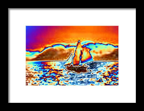 Sail Framed Print featuring the digital art The Sail by Tim Allen