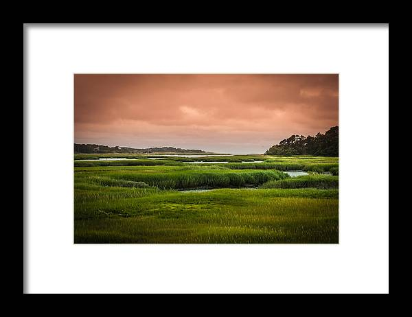 Duck Creek Marsh Framed Print featuring the photograph The Salt Marsh by Heather Hubbard