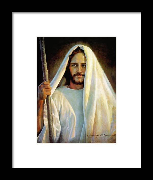 Jesus Framed Print featuring the painting The Savior by Greg Olsen