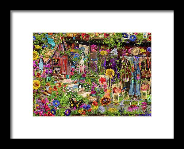 Garden Framed Print featuring the photograph The Scarecrows Garden by MGL Meiklejohn Graphics Licensing