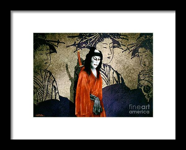Will Bullas Framed Print featuring the painting The Scarlet Samurai... by Will Bullas