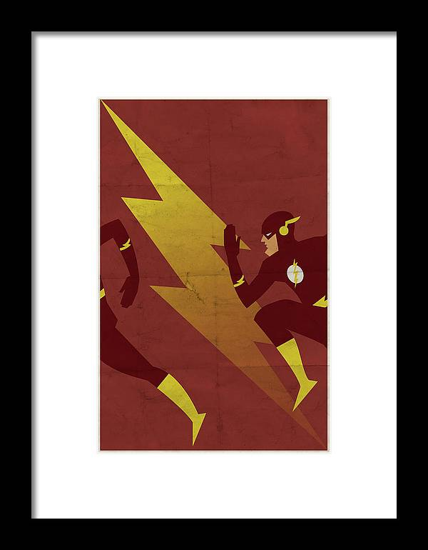 Fast Framed Print featuring the digital art The Scarlet Speedster by Michael Myers
