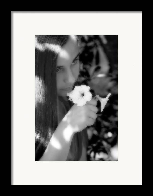 Girl Framed Print featuring the photograph The Scent by Steve Parrott