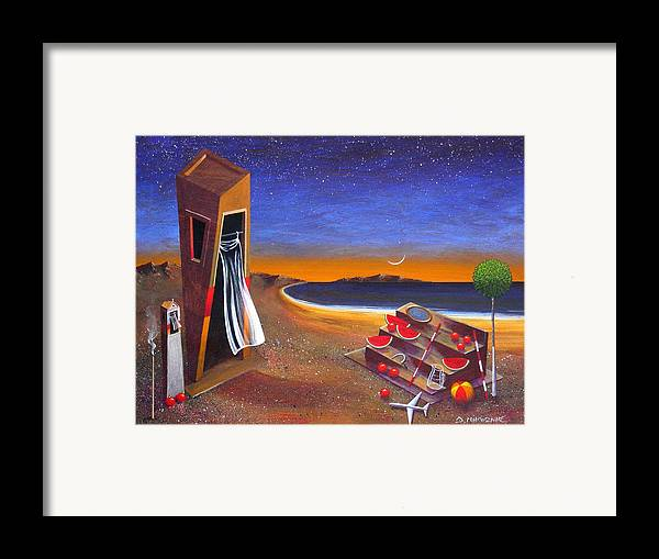 Landscape Framed Print featuring the painting The School Of Metaphysical Thought by Dimitris Milionis