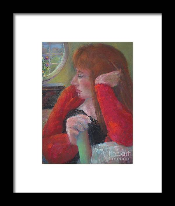 Scottish Framed Print featuring the painting The Scotswoman Copyrighted by Kathleen Hoekstra