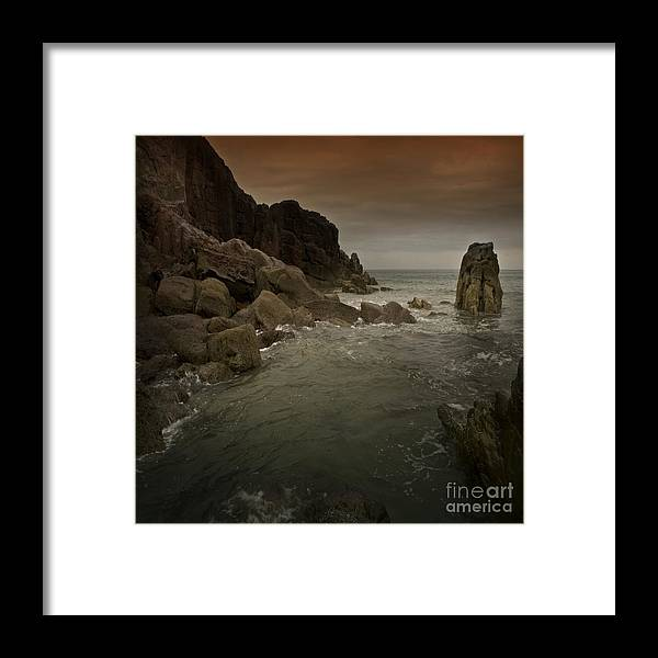 Sea Framed Print featuring the photograph The Sea And The Rocks by Angel Ciesniarska