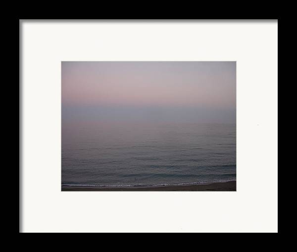 Seascape Framed Print featuring the painting The Sea Oh The Sea by Roger Cummiskey